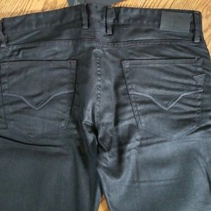 Guess Mens Slim Straight Black Jeans 36 x 30